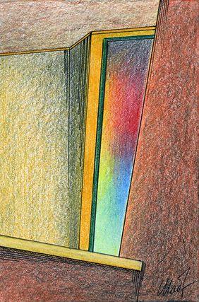 Yelena Shabrova ~ sketch ~ colored pencil, pastel pencil, ink, 4