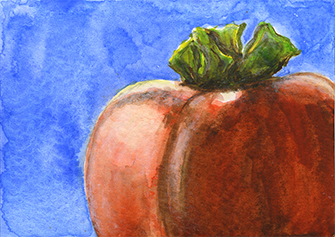 Dianne Daly ~ Persimmon ~ watercolor