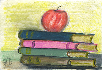 Gudrun Baumeister ~ Teachers Apple ~ watercolor
