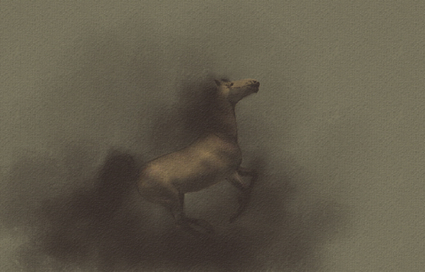 Yelena Shabrova ~ A sketch a day: digital horse  ~ Painter Mobile Pro