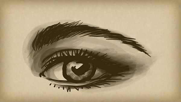 Yelena Shabrova ~ A sketch a day: eye ~ digital art ~ eye